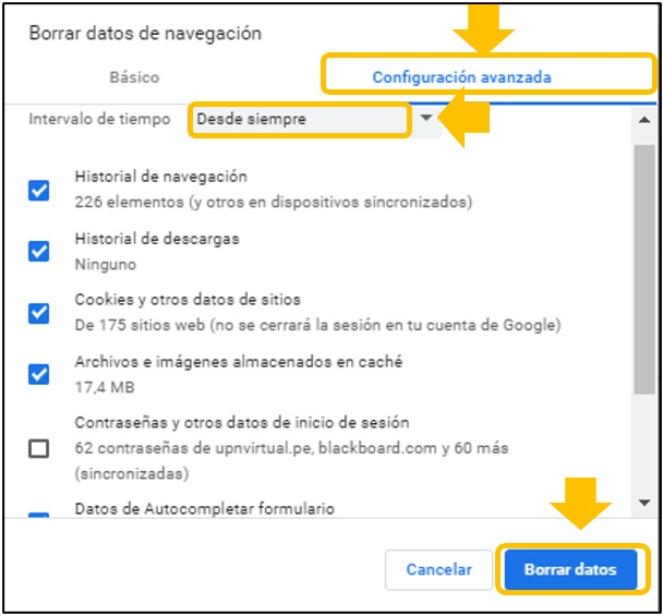 error ingresar aula virtual
